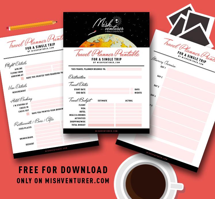 foto de Travel Planner Printable For Single Trips – It's Free! – Mishventurer
