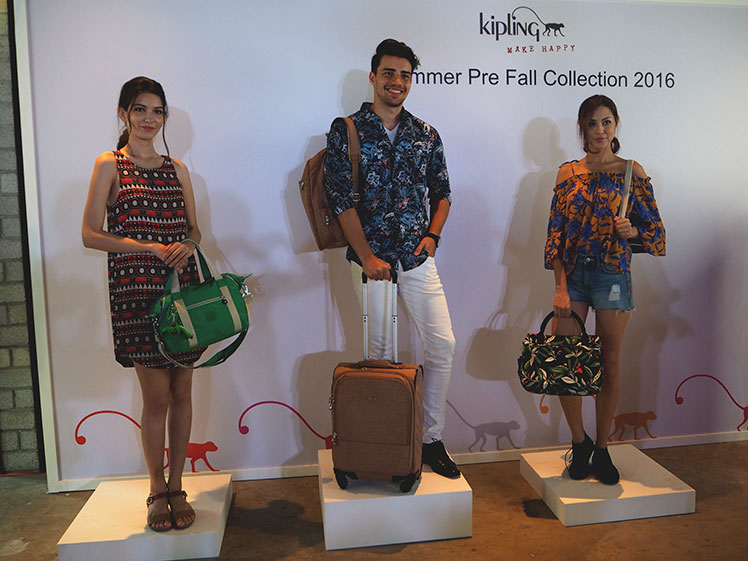 Kipling summer pre-fall 2016 collection event