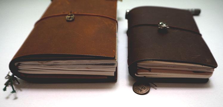 Midori Traveler's Notebook Passport Size Brown