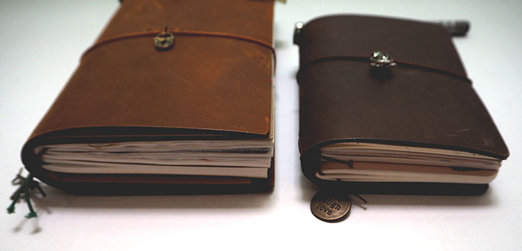 Midori Traveler's Notebook Passport Size Brown