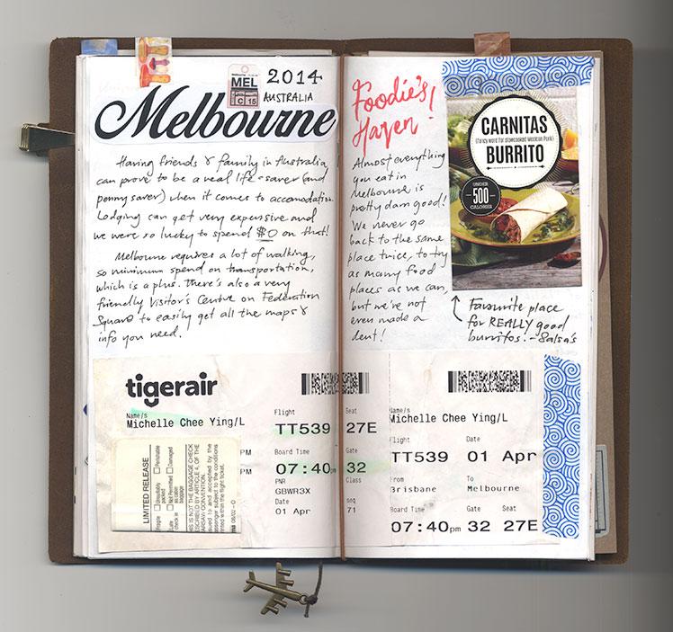 Midori Traveler's Notebook Melbourne Australia