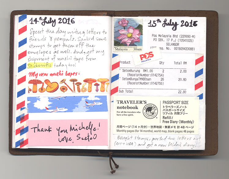 Midori Passport Daily Journal July 2016