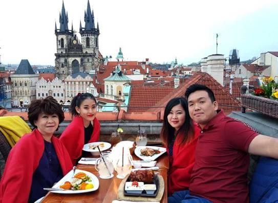 At Terasa U Prince rooftop dining