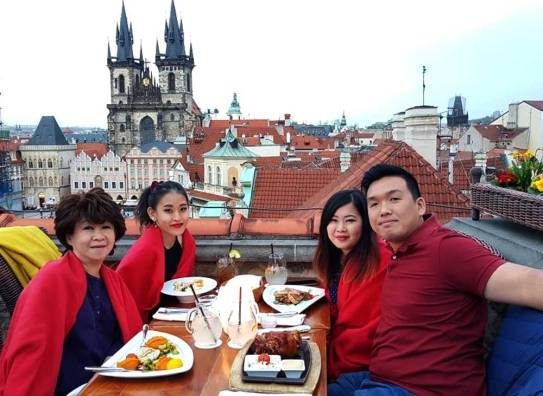 At Terasa U Prince rooftop dining